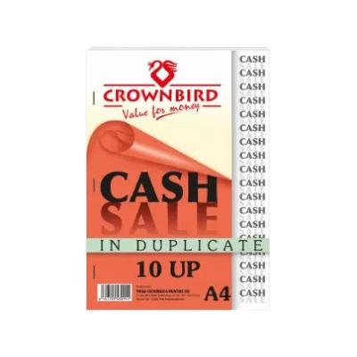 Crownbird Cash Sales Book – 10Ups