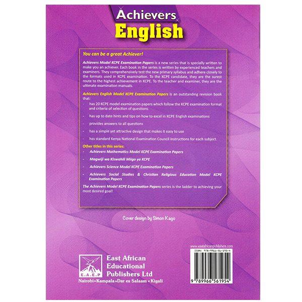 Achievers English Model KCPE